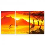 Жирафы на закате 08-124