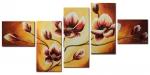 Модульная картина маслом цветы 09-05