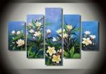 цветы на голубом 51-158